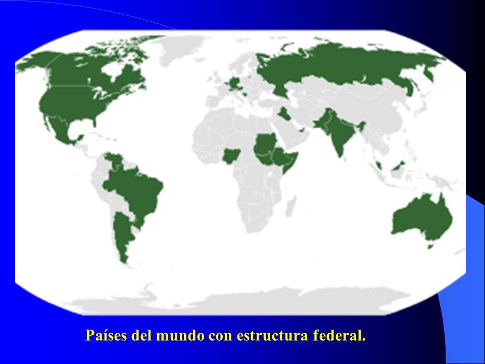 Países del mundo con estructura federal.