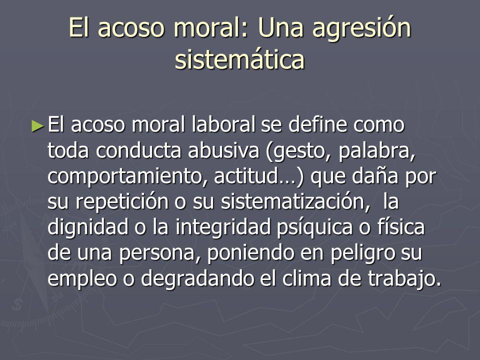 El acoso moral: Una agresión sistemática