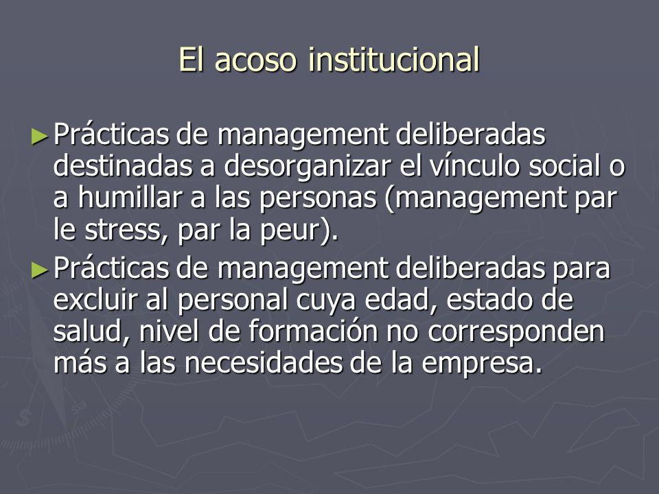 El acoso institucional