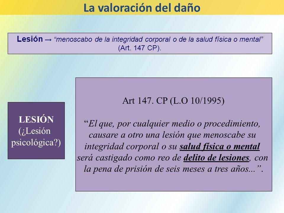 La valoración del daño Art 147. CP (L.O 10/1995)