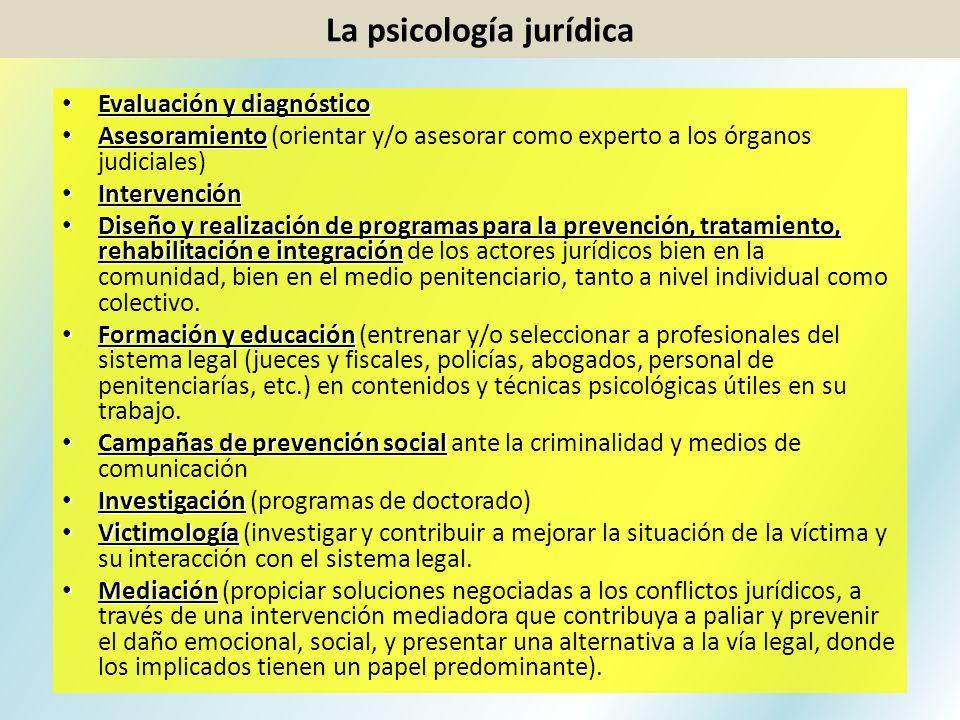 La psicología jurídica