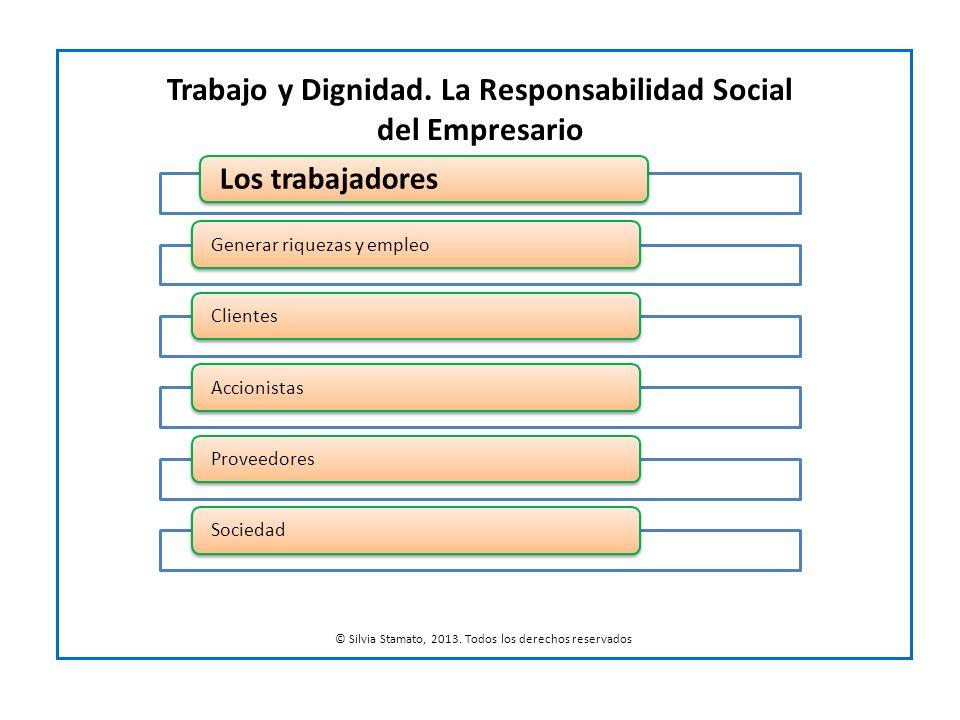 Trabajo y Dignidad. La Responsabilidad Social del Empresario