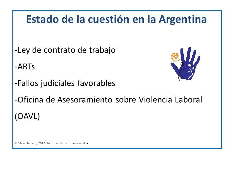 Estado de la cuestión en la Argentina