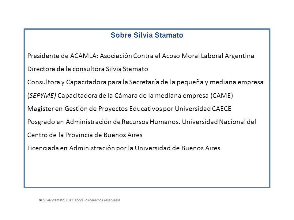 Directora de la consultora Silvia Stamato