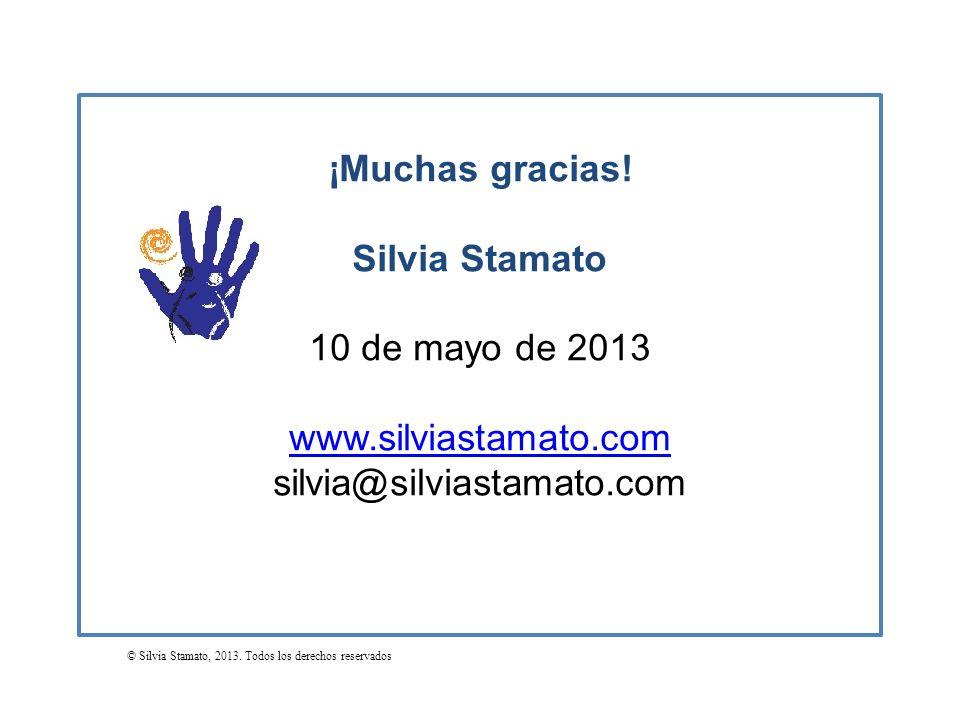 ¡Muchas gracias! Silvia Stamato