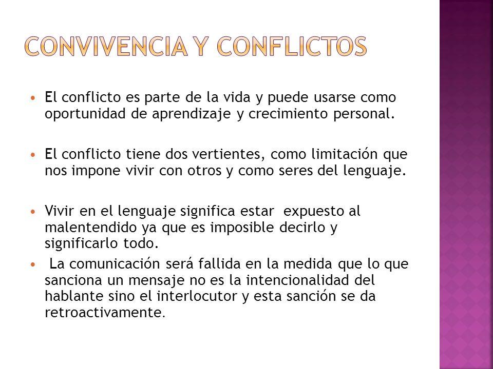 Convivencia y conflictos