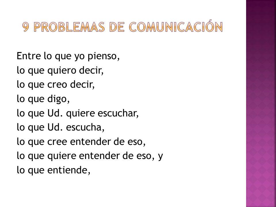 9 problemas de comunicación