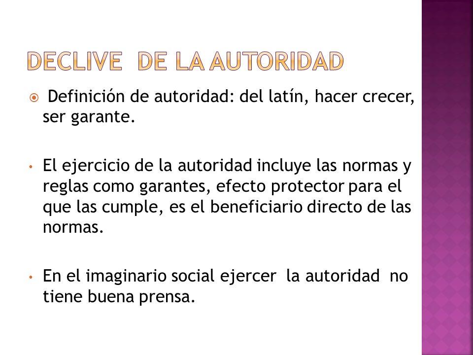 DECLIVE DE LA AUTORIDAD