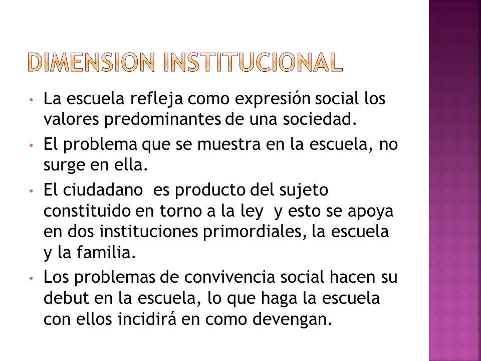 DIMENSION INSTITUCIONAL