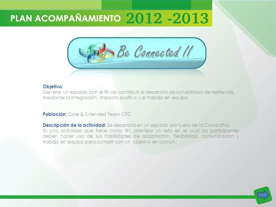 Be Connected II Objetivo: