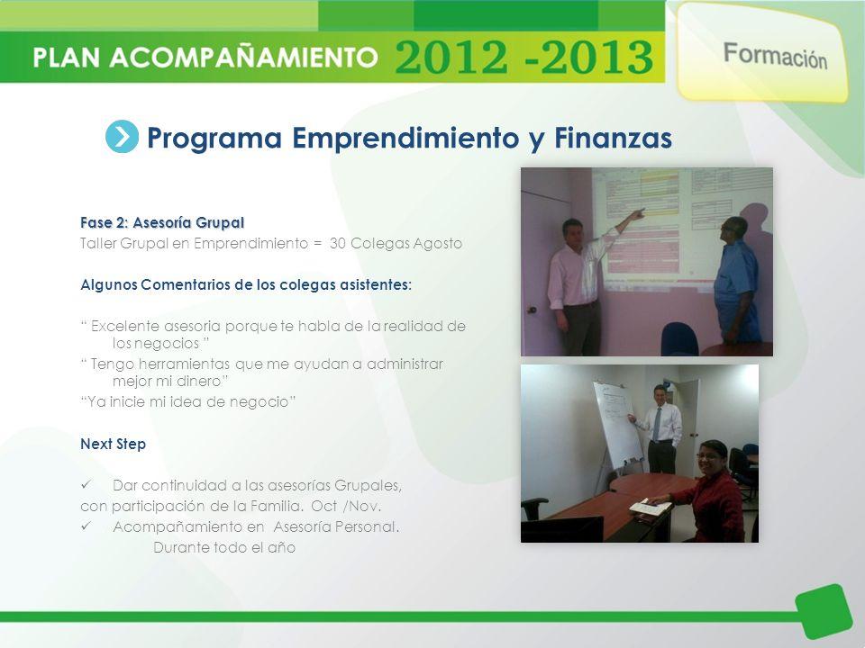 Programa Emprendimiento y Finanzas
