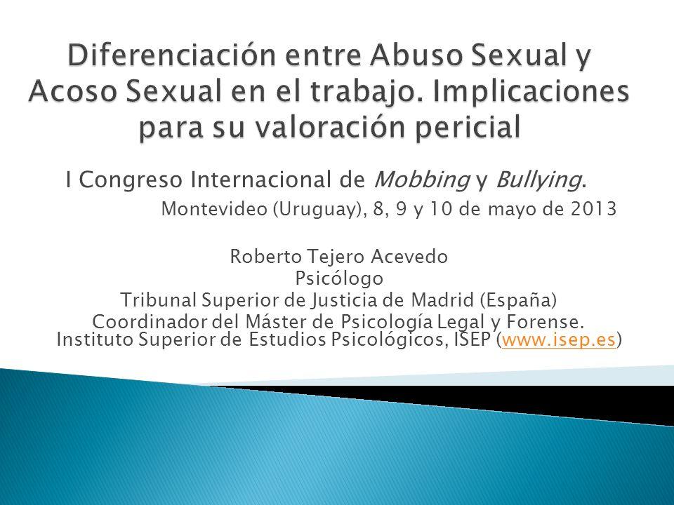 Diferenciación entre Abuso Sexual y Acoso Sexual en el trabajo