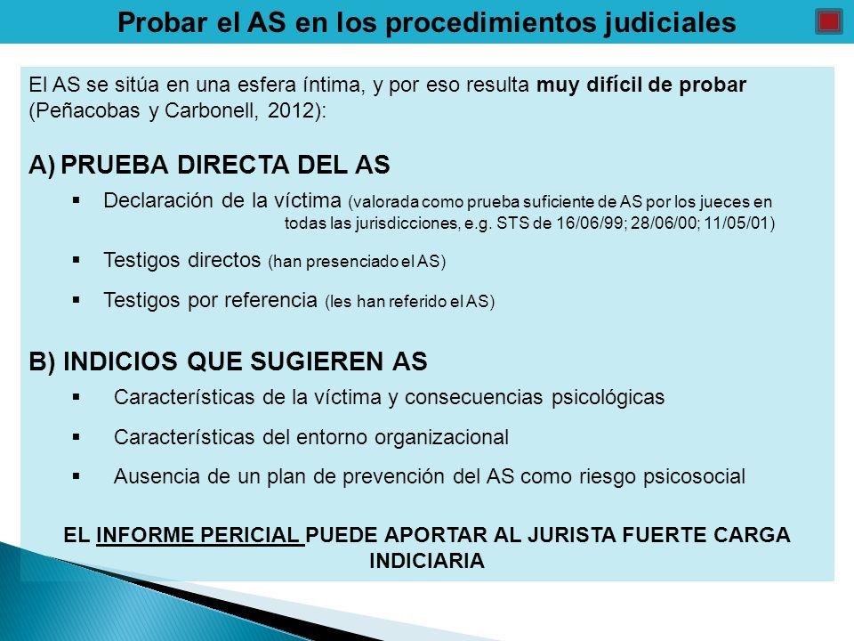 Probar el AS en los procedimientos judiciales