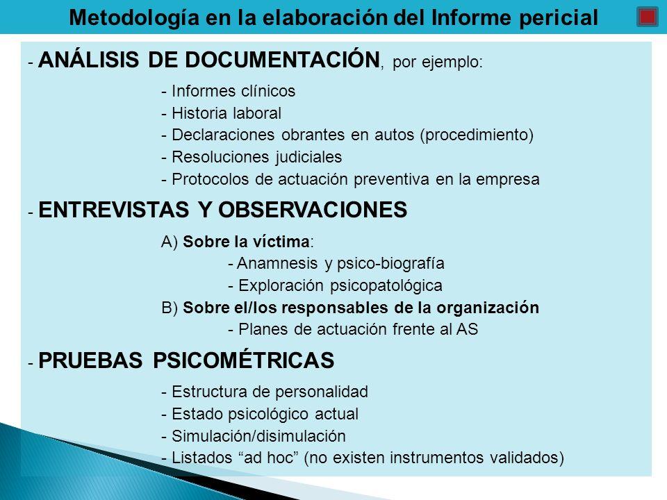 Metodología en la elaboración del Informe pericial