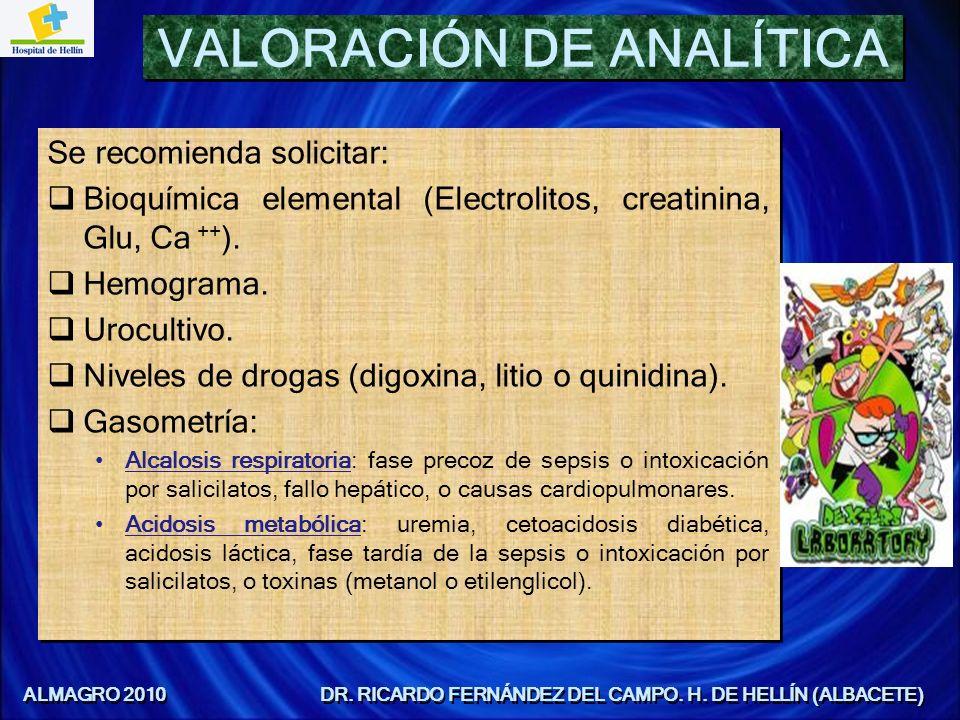 VALORACIÓN DE ANALÍTICA