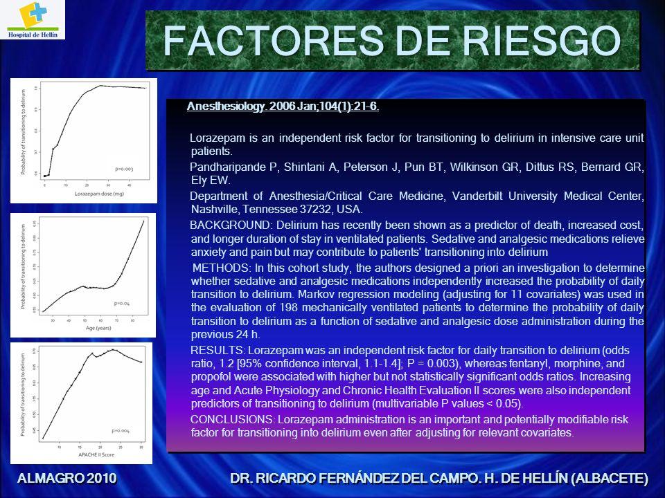 ALMAGRO 2010 DR. RICARDO FERNÁNDEZ DEL CAMPO. H. DE HELLÍN (ALBACETE)