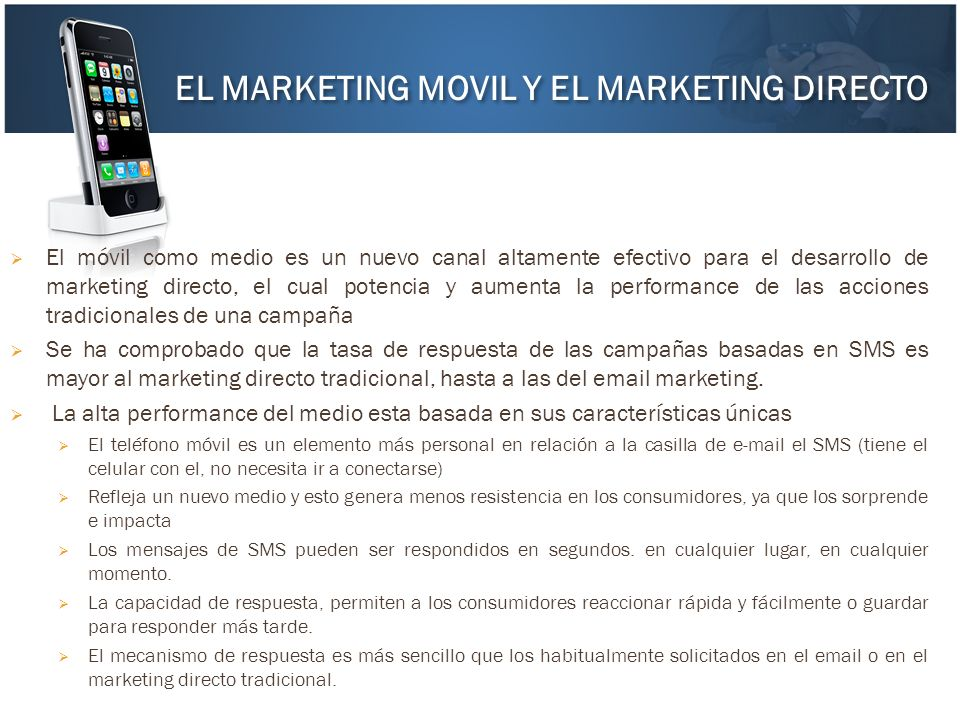 EL MARKETING MOVIL Y EL MARKETING DIRECTO