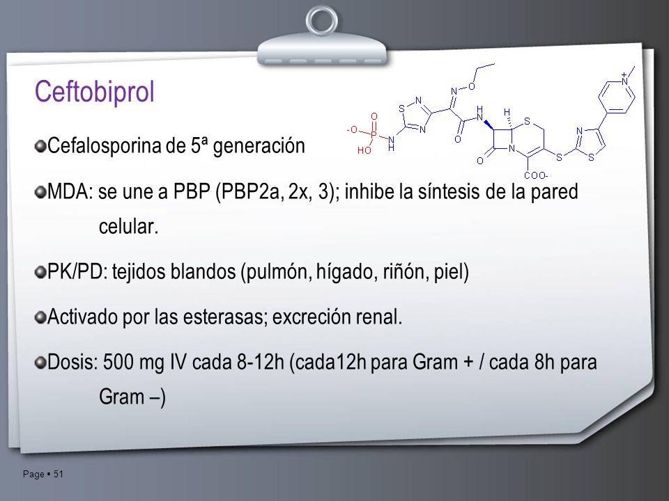 Ceftobiprol Cefalosporina de 5ª generación
