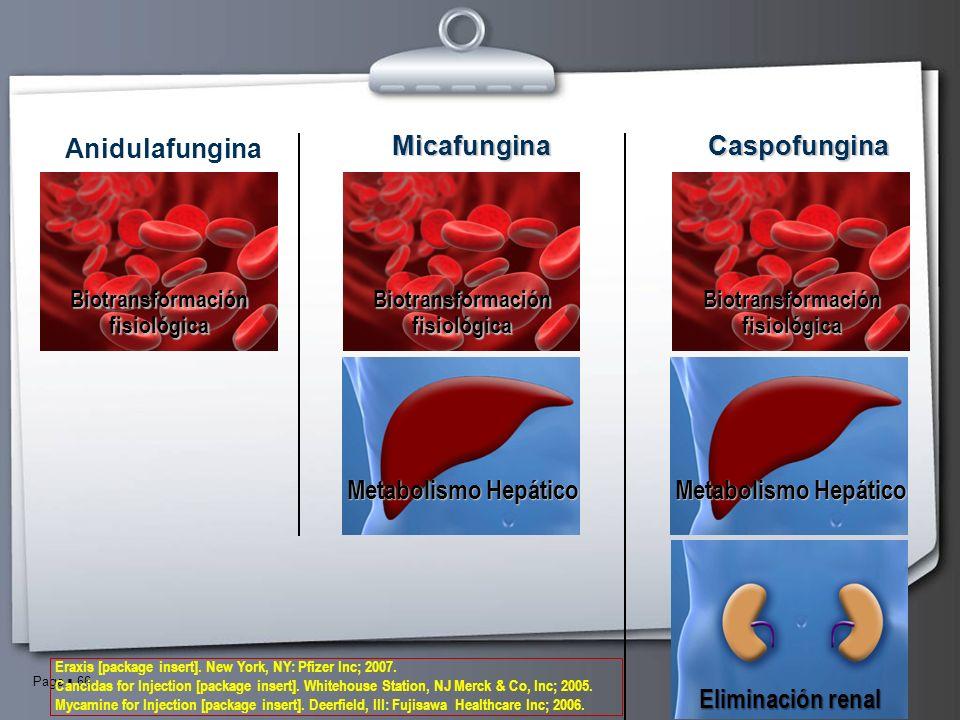 Anidulafungina Micafungina Caspofungina Metabolismo Hepático