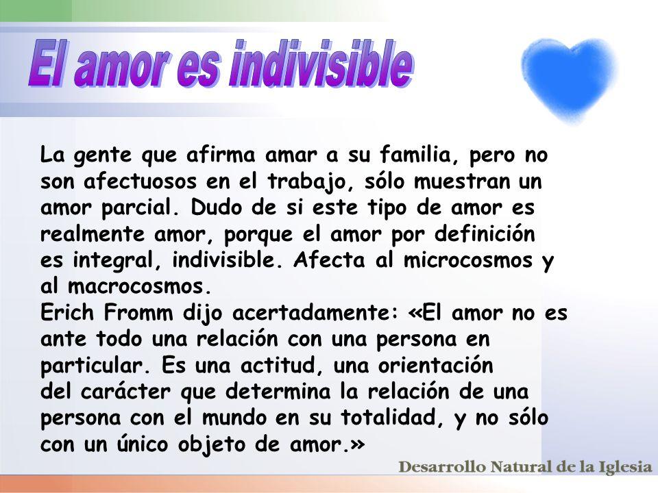 El amor es indivisible