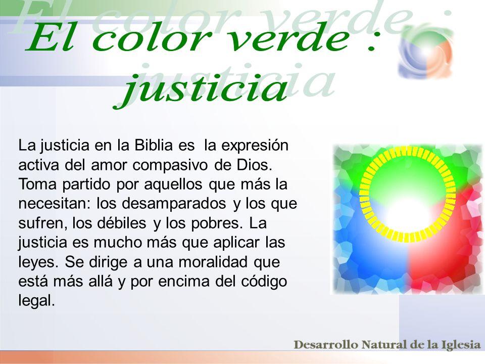 El color verde : justicia