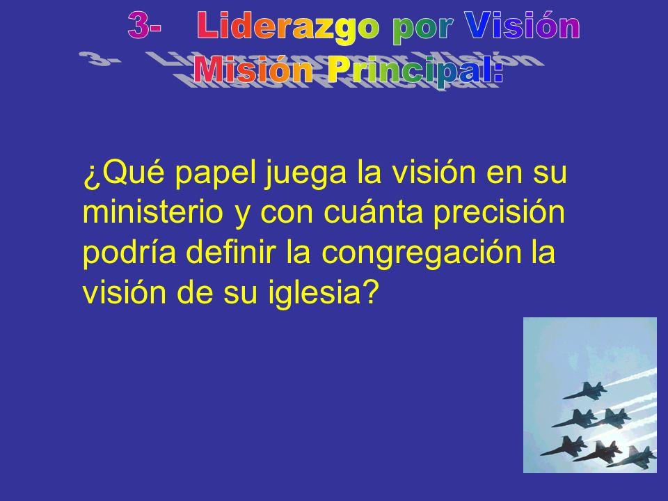 3- Liderazgo por Visión Misión Principal: