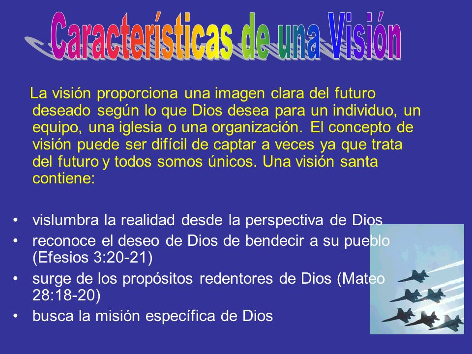 Características de una Visión