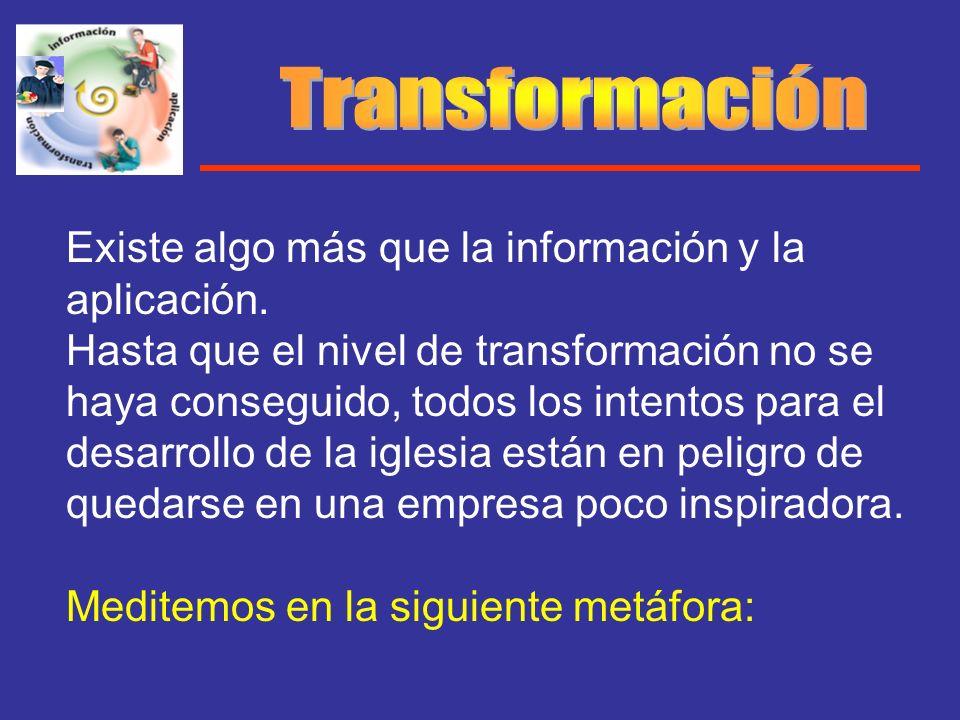 Transformación Existe algo más que la información y la aplicación.