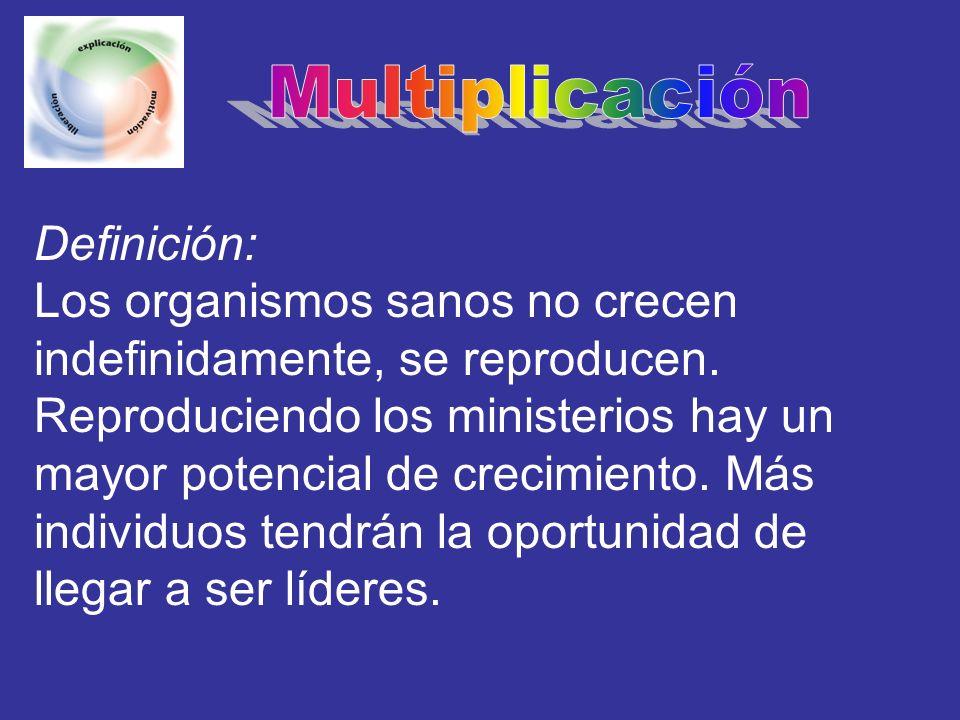 Multiplicación Definición: Los organismos sanos no crecen indefinidamente, se reproducen.