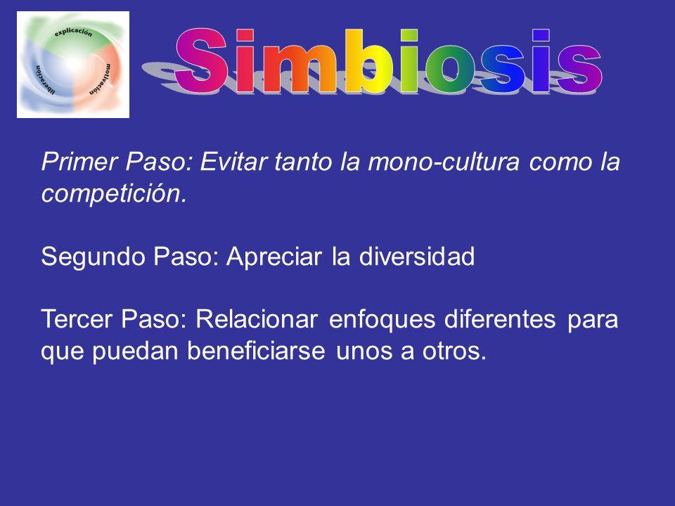 Simbiosis Primer Paso: Evitar tanto la mono-cultura como la competición. Segundo Paso: Apreciar la diversidad.