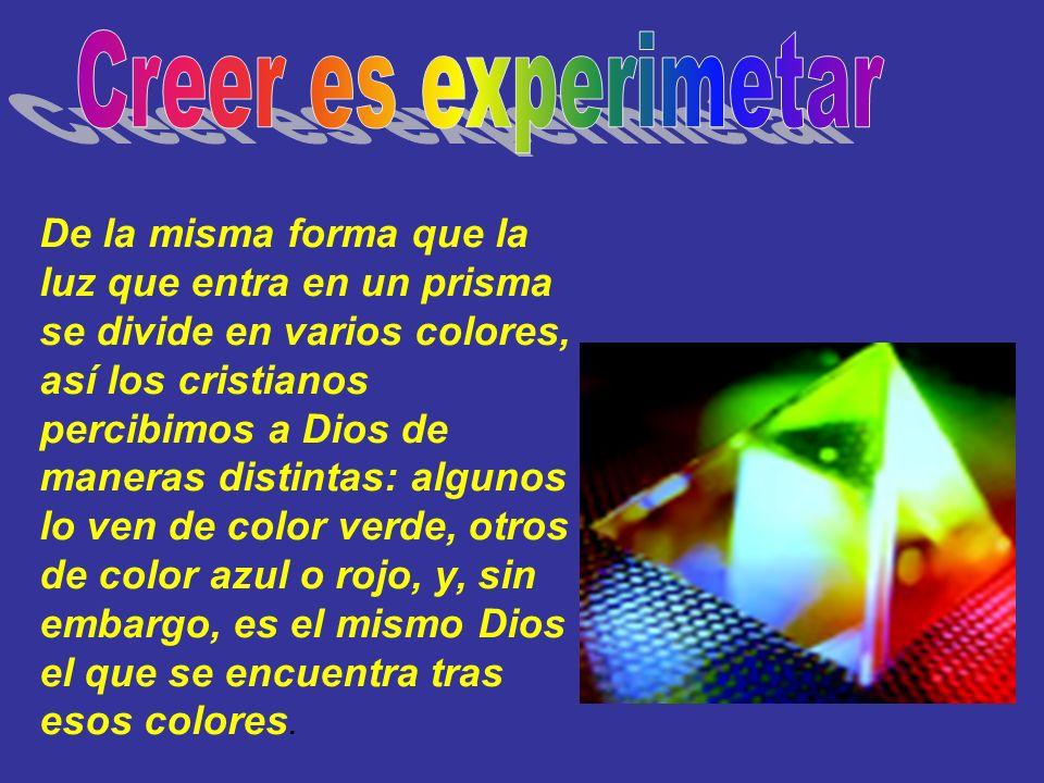 Creer es experimetar