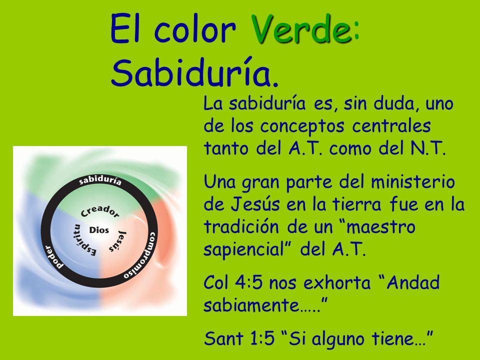 El color Verde: Sabiduría.