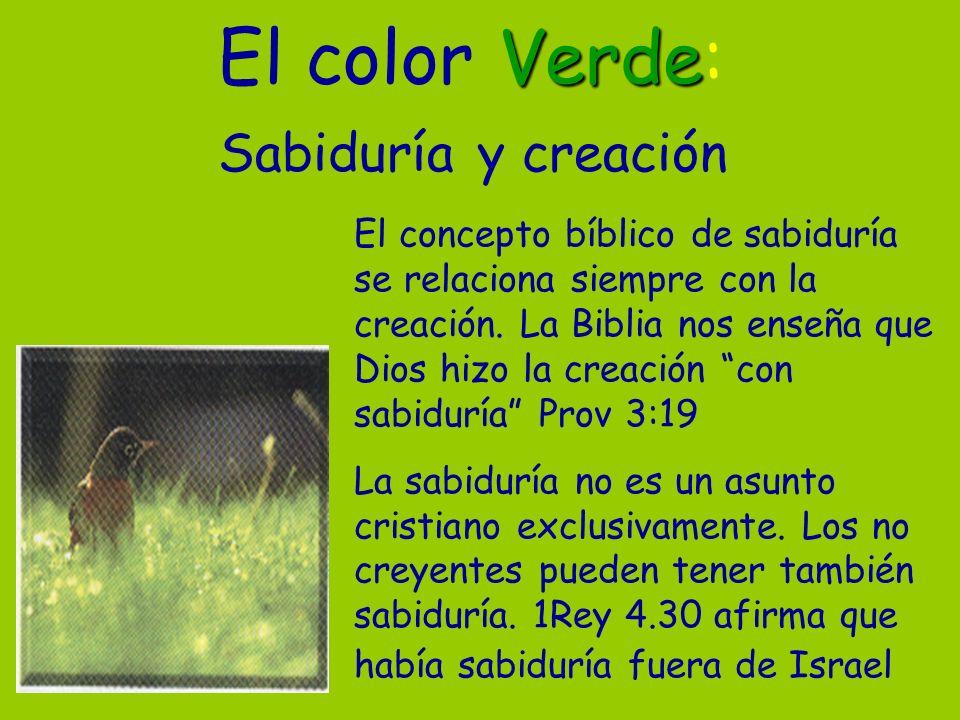 El color Verde: Sabiduría y creación
