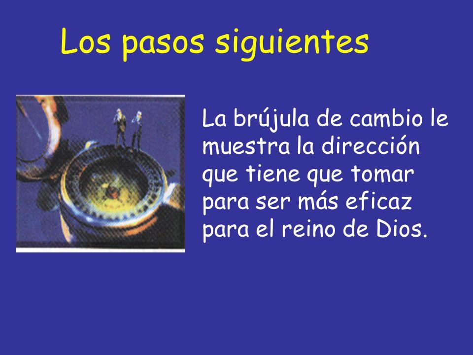 Los pasos siguientesLa brújula de cambio le muestra la dirección que tiene que tomar para ser más eficaz para el reino de Dios.