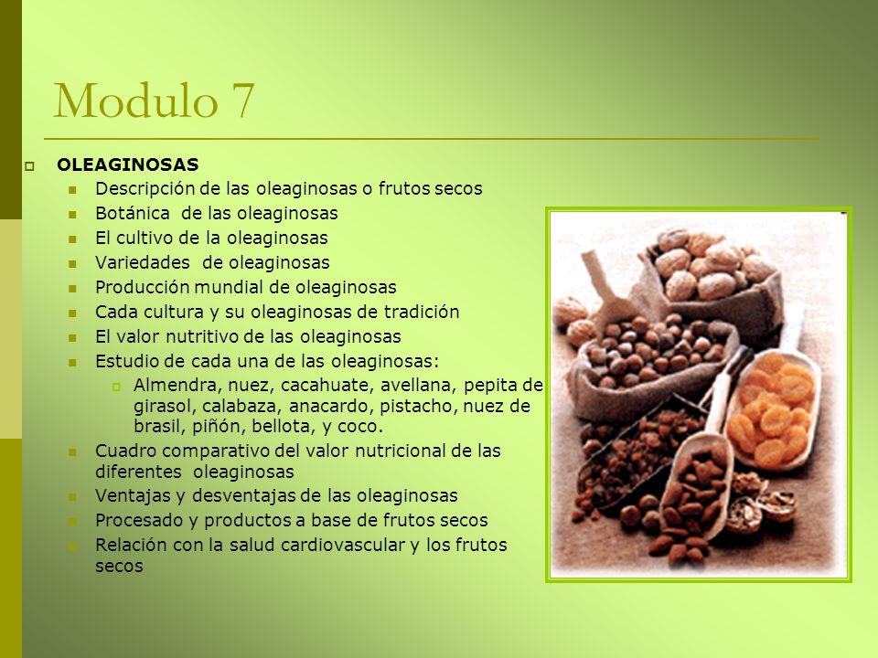 Modulo 7 OLEAGINOSAS Descripción de las oleaginosas o frutos secos