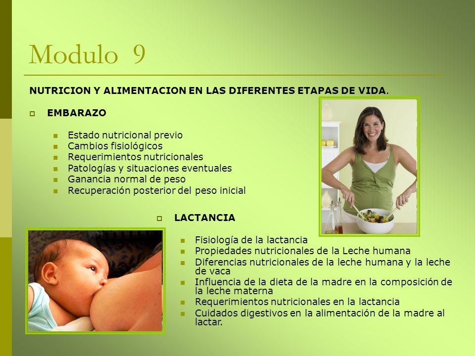 Modulo 9 NUTRICION Y ALIMENTACION EN LAS DIFERENTES ETAPAS DE VIDA.