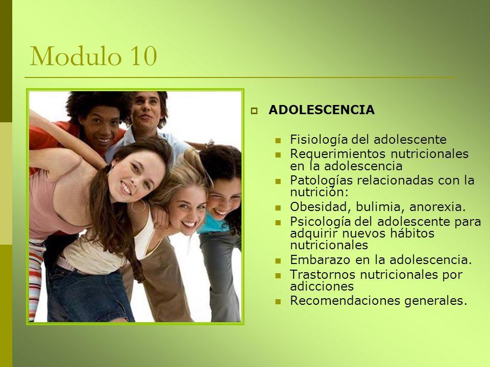 Modulo 10 ADOLESCENCIA Fisiología del adolescente