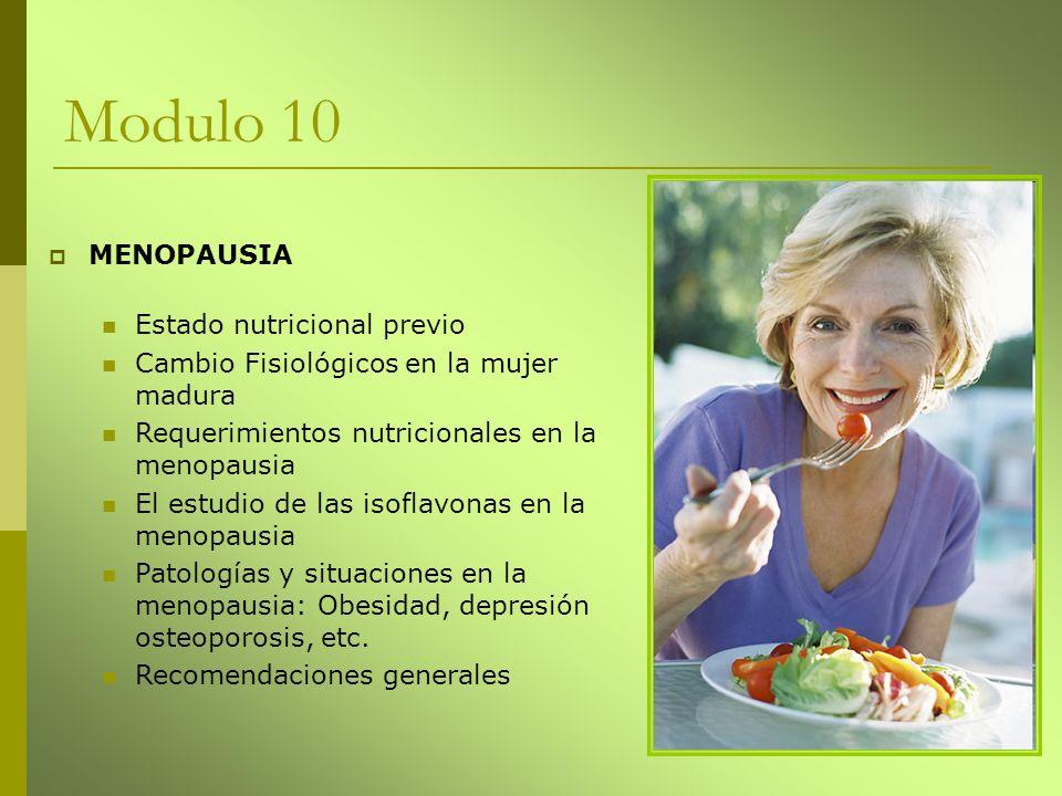 Modulo 10 MENOPAUSIA Estado nutricional previo