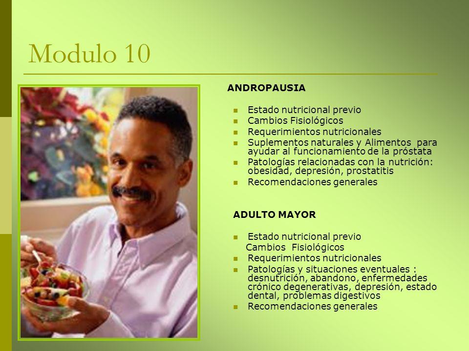 Modulo 10 ANDROPAUSIA Estado nutricional previo Cambios Fisiológicos