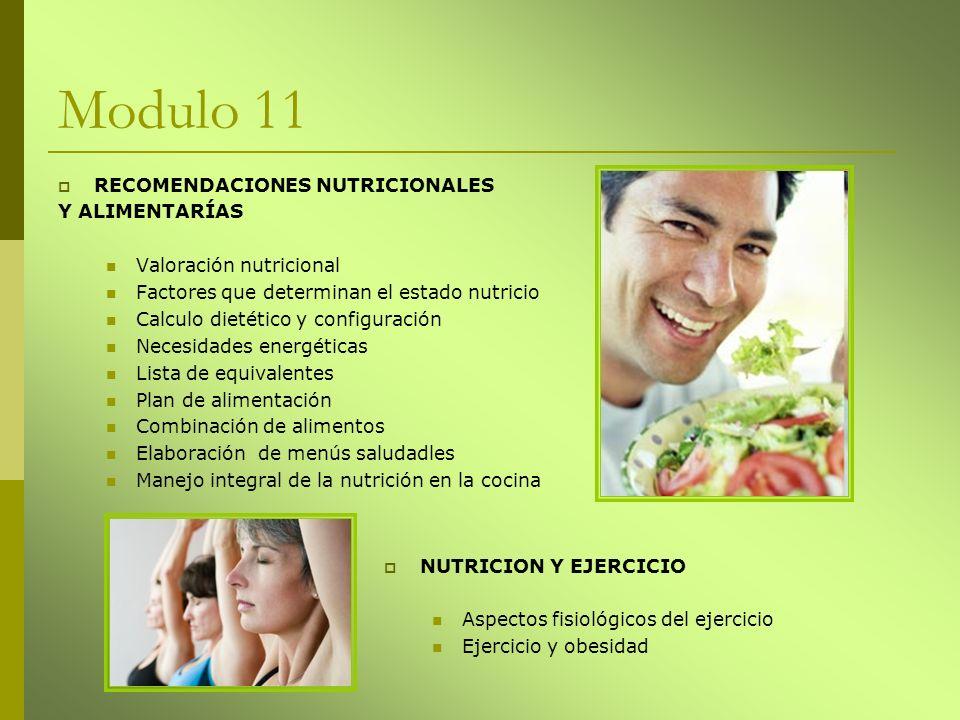 Modulo 11 RECOMENDACIONES NUTRICIONALES Y ALIMENTARÍAS
