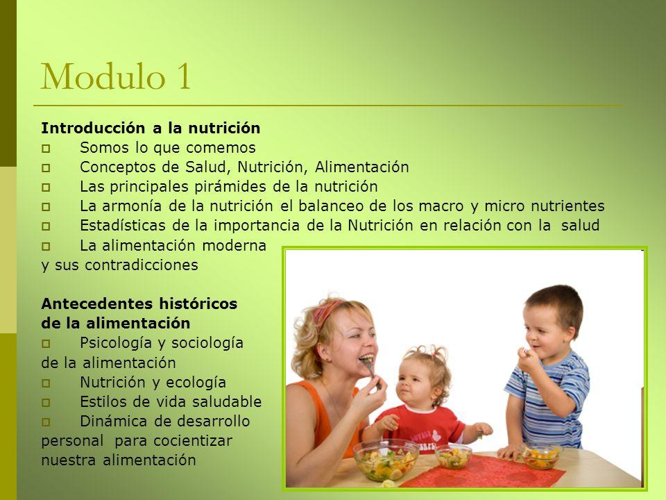 Modulo 1 Introducción a la nutrición Somos lo que comemos