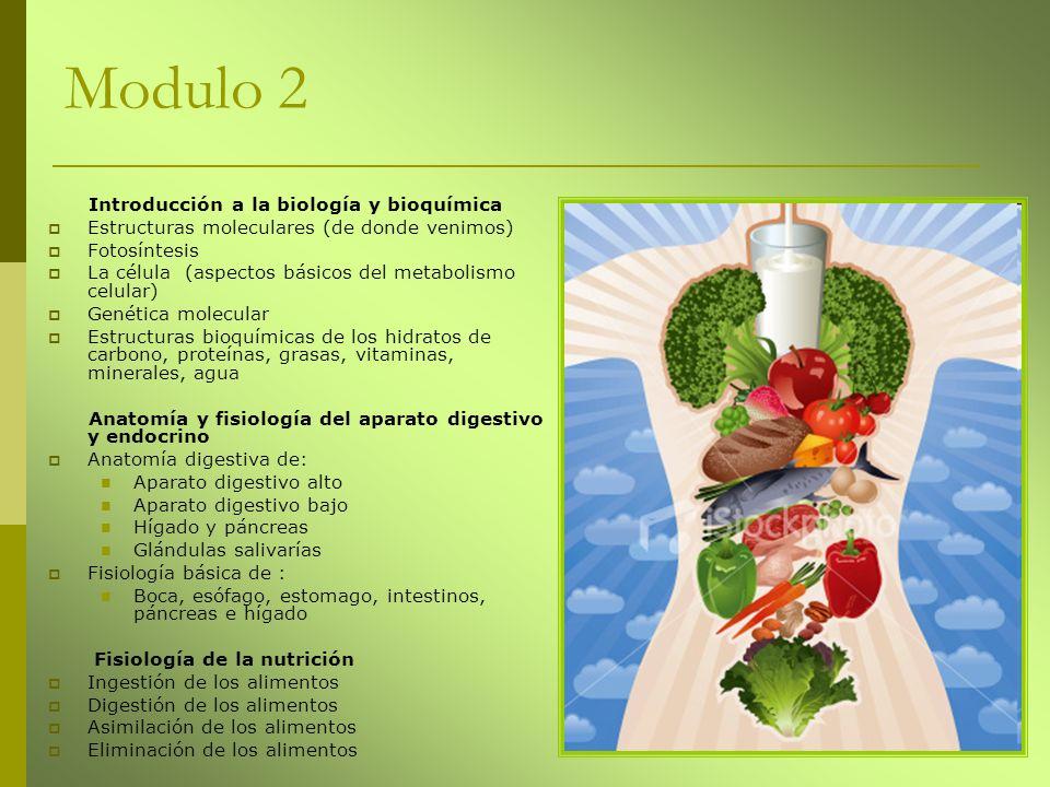 Modulo 2 Introducción a la biología y bioquímica