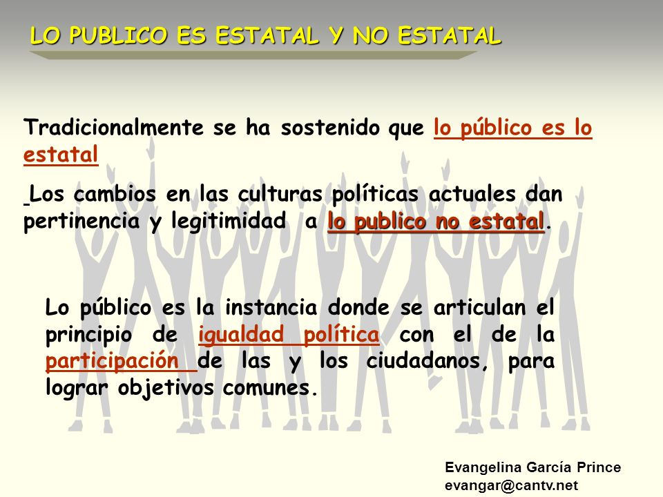 LO PUBLICO ES ESTATAL Y NO ESTATAL