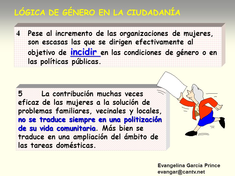 LÓGICA DE GÉNERO EN LA CIUDADANÍA