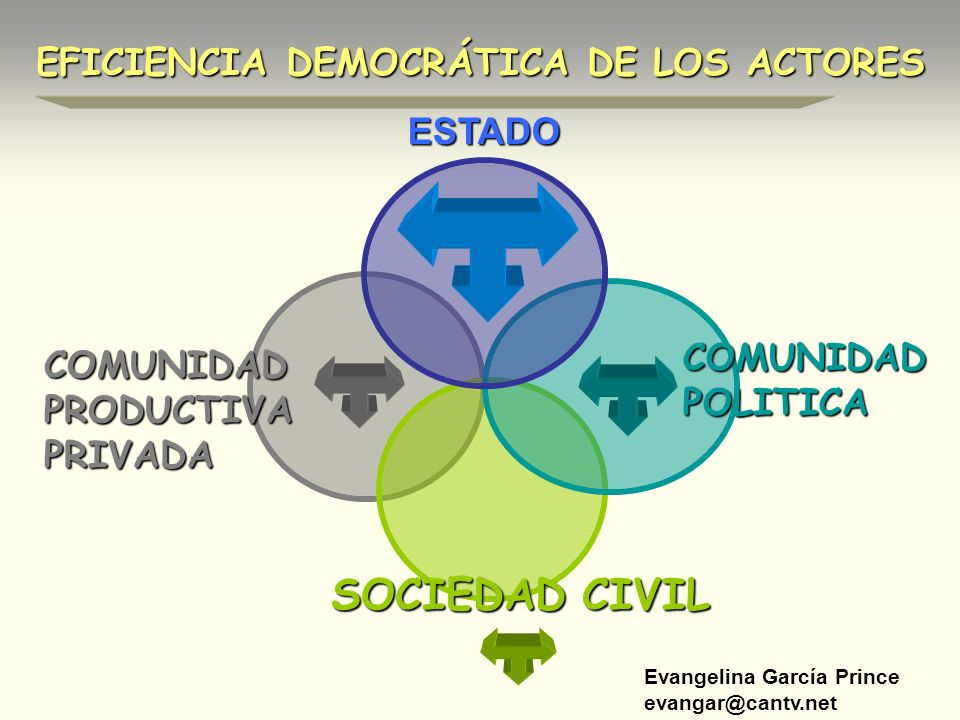 SOCIEDAD CIVIL EFICIENCIA DEMOCRÁTICA DE LOS ACTORES ESTADO