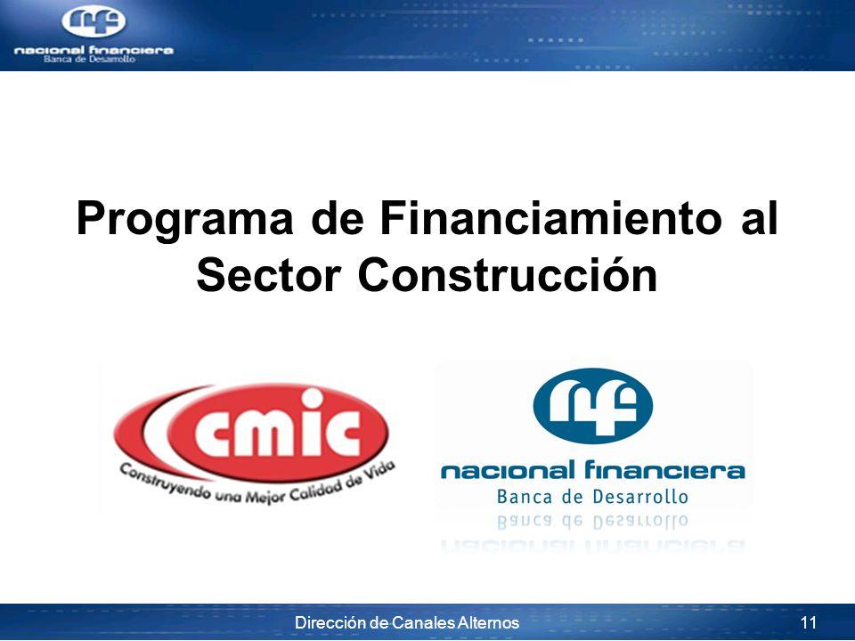 Programa de Financiamiento al Sector Construcción
