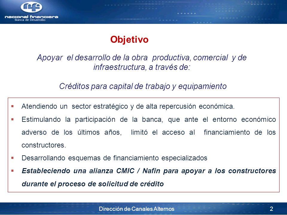 Créditos para capital de trabajo y equipamiento