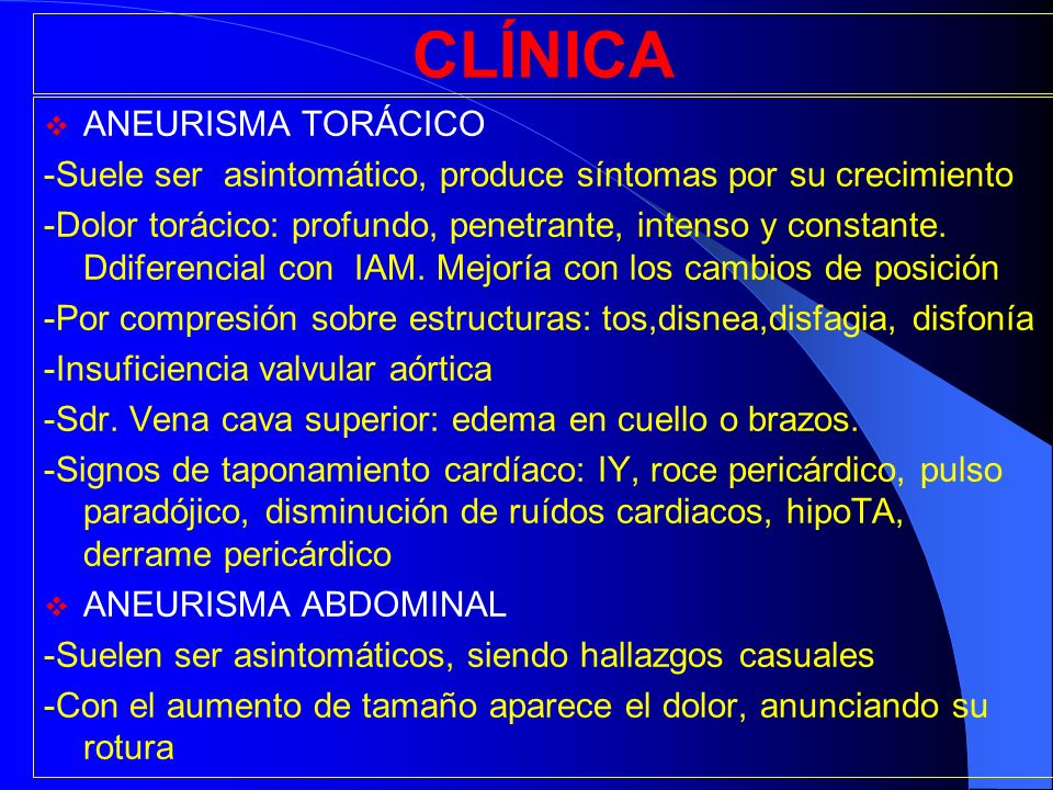 CLÍNICA ANEURISMA TORÁCICO