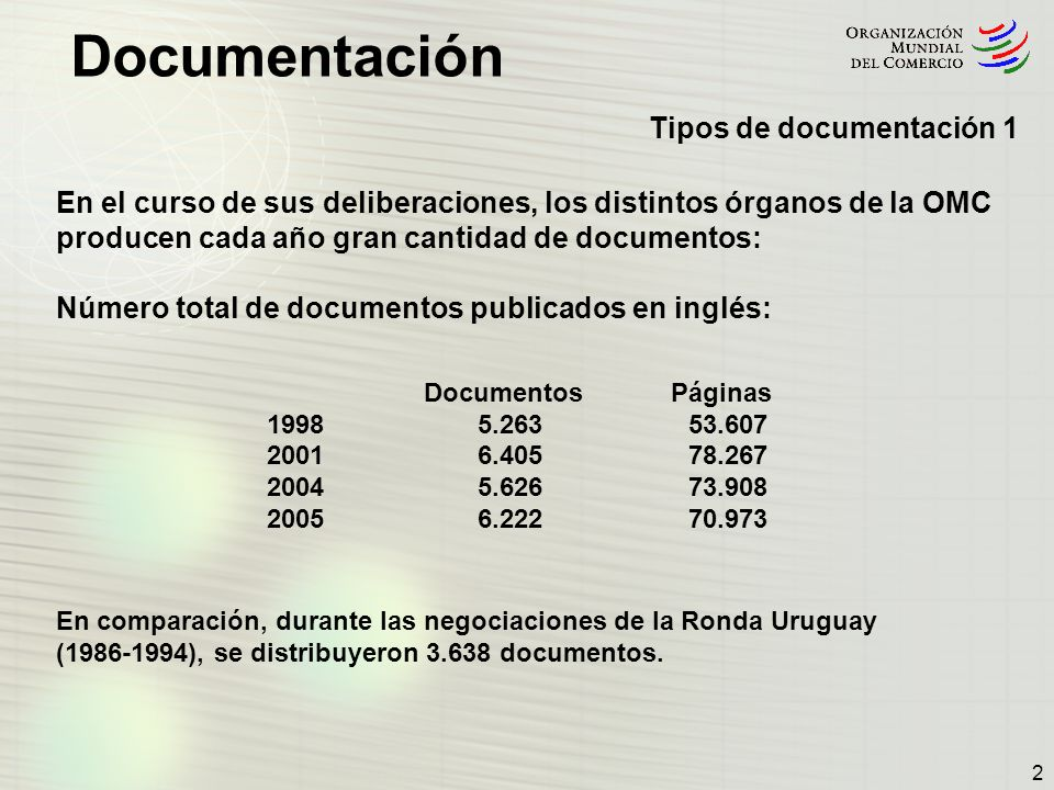 Tipos de documentación 1