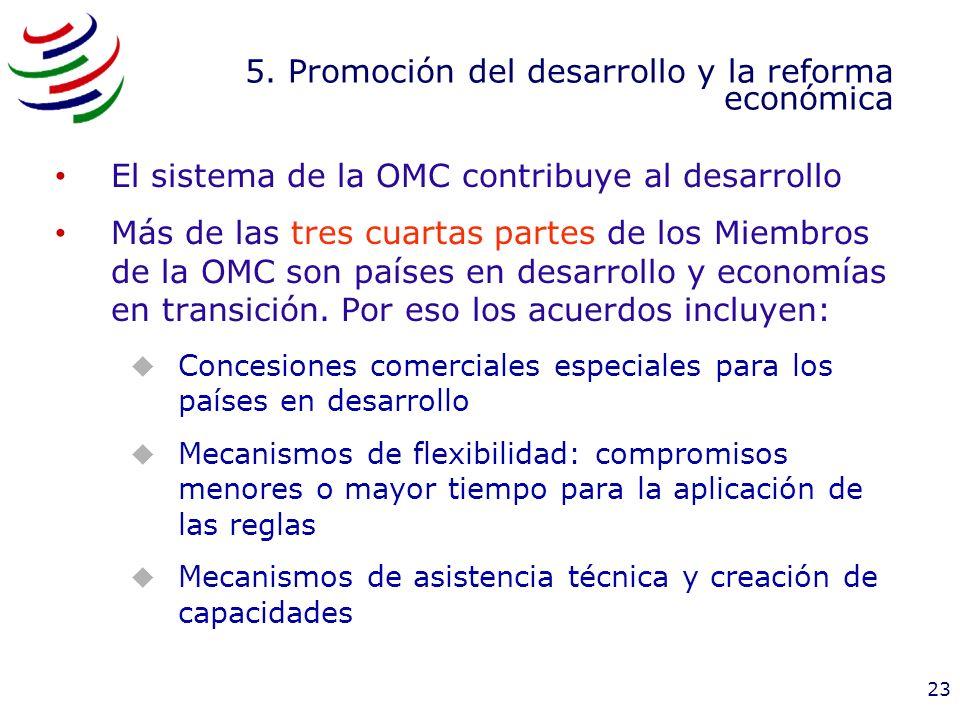 5. Promoción del desarrollo y la reforma económica